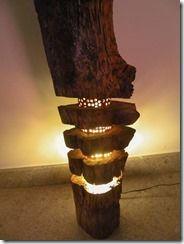 Luminária de tronco | Oficina 44
