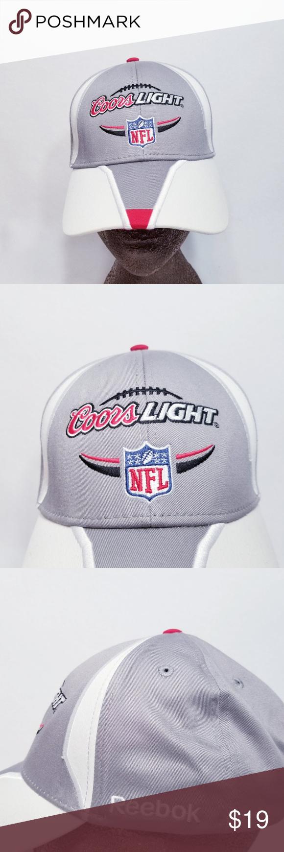 Reebok Nfl Coors Light Baseball Hat Cap Osfm Reebok Nfl Accessories Baseball Hats