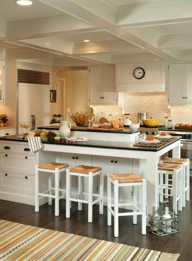 Love The Middle Of The Island Being Slightly Raised Kitchen Island Designs With Seating Interior Design Kitchen Kitchen Island With Seating