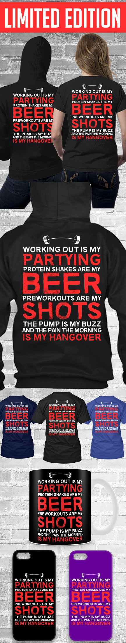 Working Out Shirt! Click The Image To Buy It Now or Tag Someone You Want To Buy This For. #workout