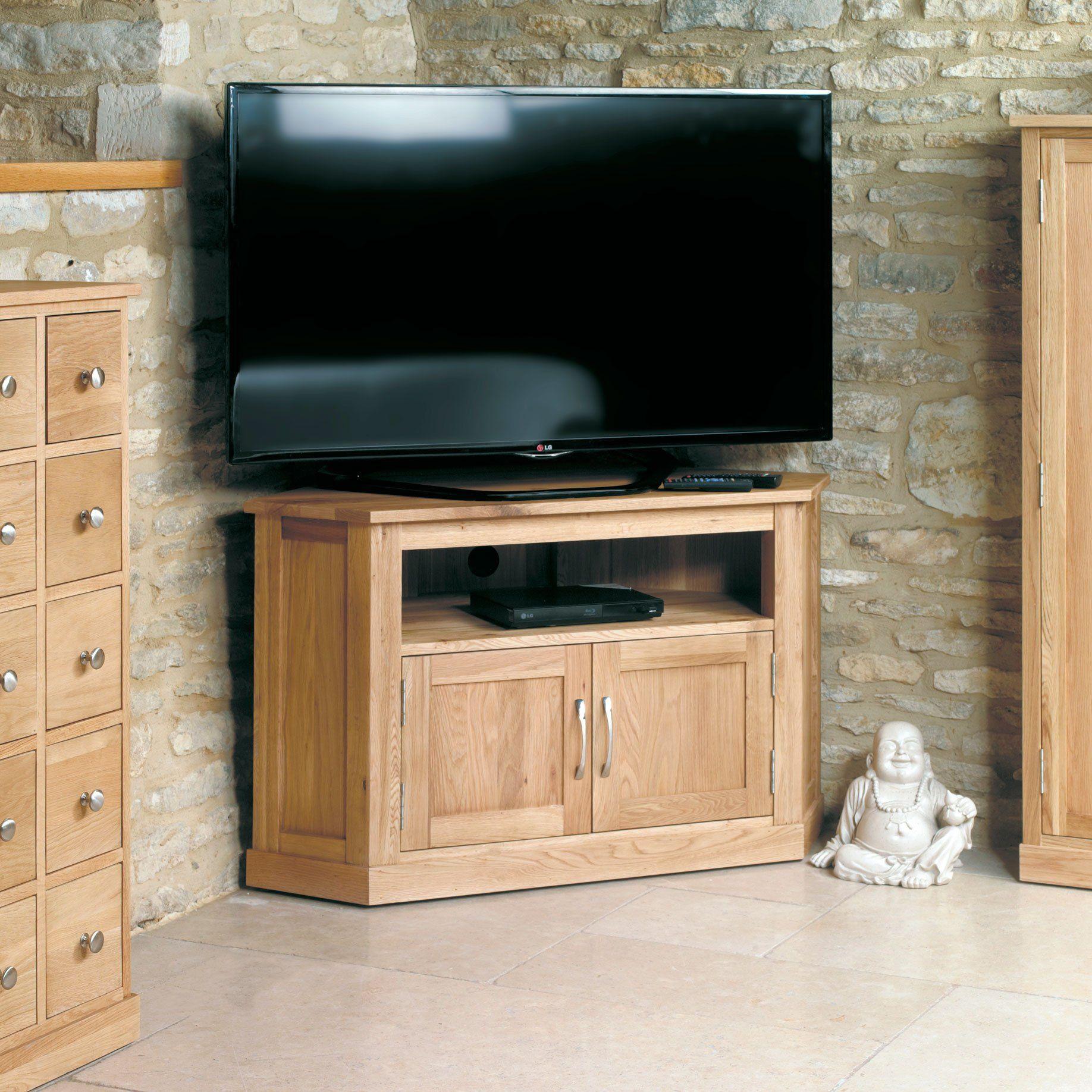 Mobel Oak Corner Television Cabinet In 2021 Corner Tv Unit Television Cabinet Oak Corner Tv Unit