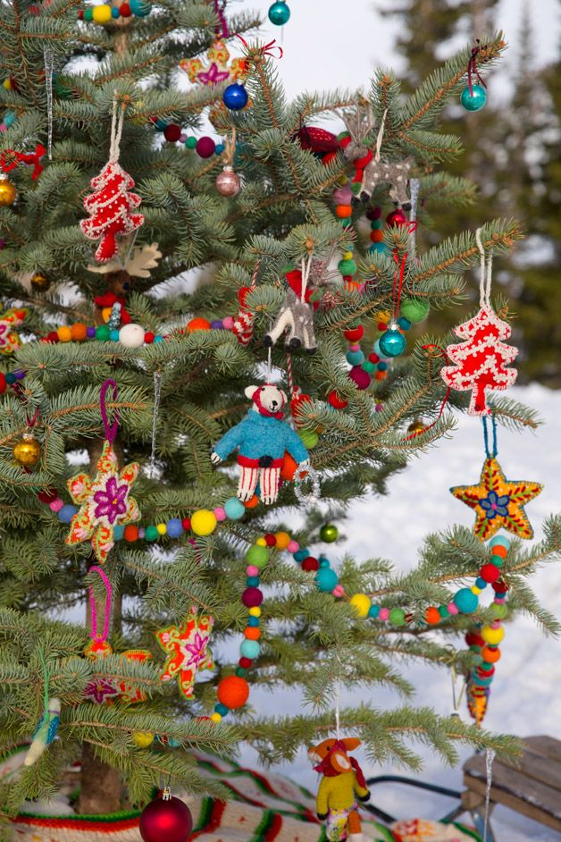 Festive Fox Is All Dapper With His Scarf On And His Tree In Hand Whimsical Christmas Seasonal Decor Fall Fox Ornaments