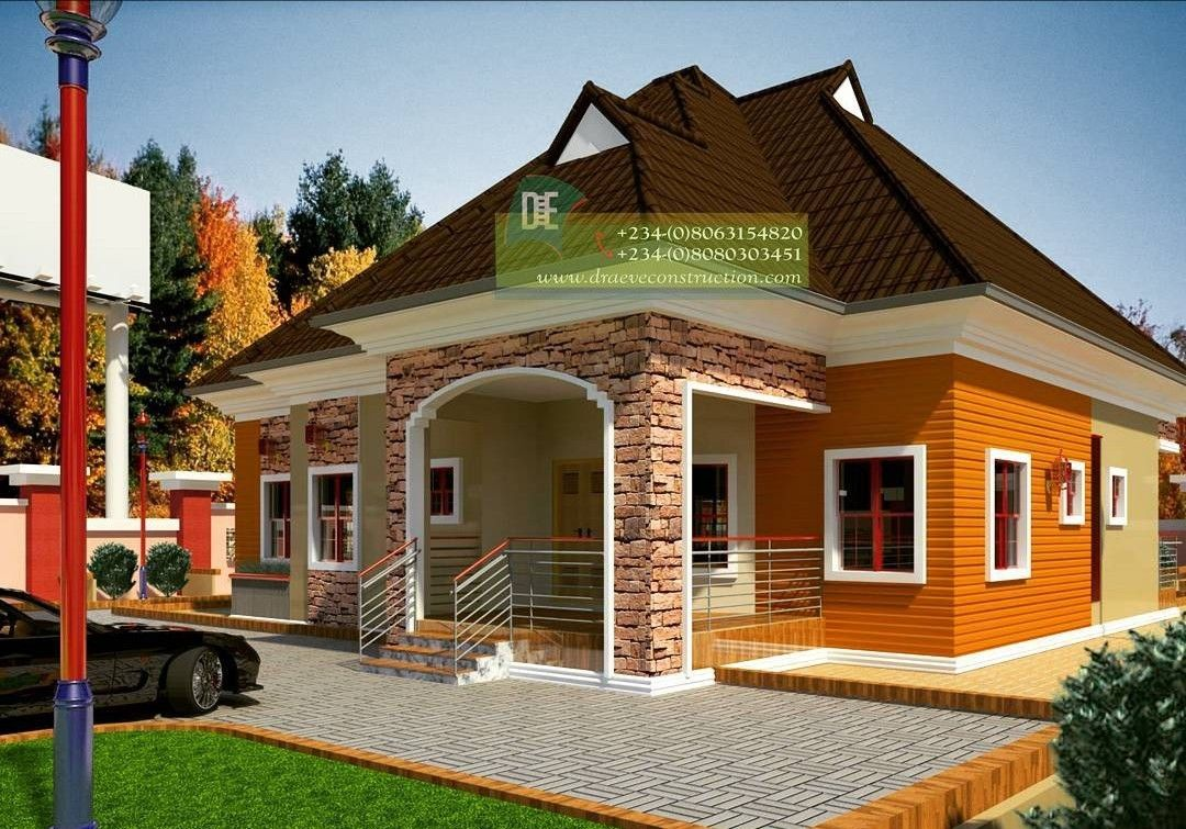 3 Bedroom Bungalow House Plan in Nigeria with ensuite ...