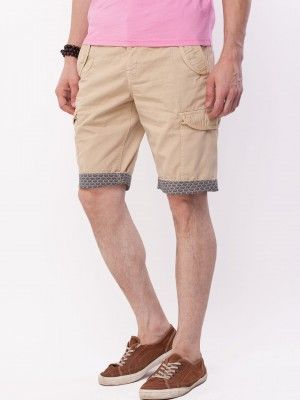 ed3e067782 Being Human Contrast Print Folded Hem Shorts on koovs.com | shorts ...