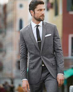 heather gray suit navy tie - Google Search | My Style | Pinterest ...