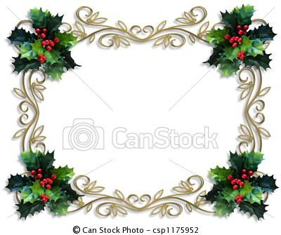 by irisangel image and illustration composition for christmas holiday card border background or