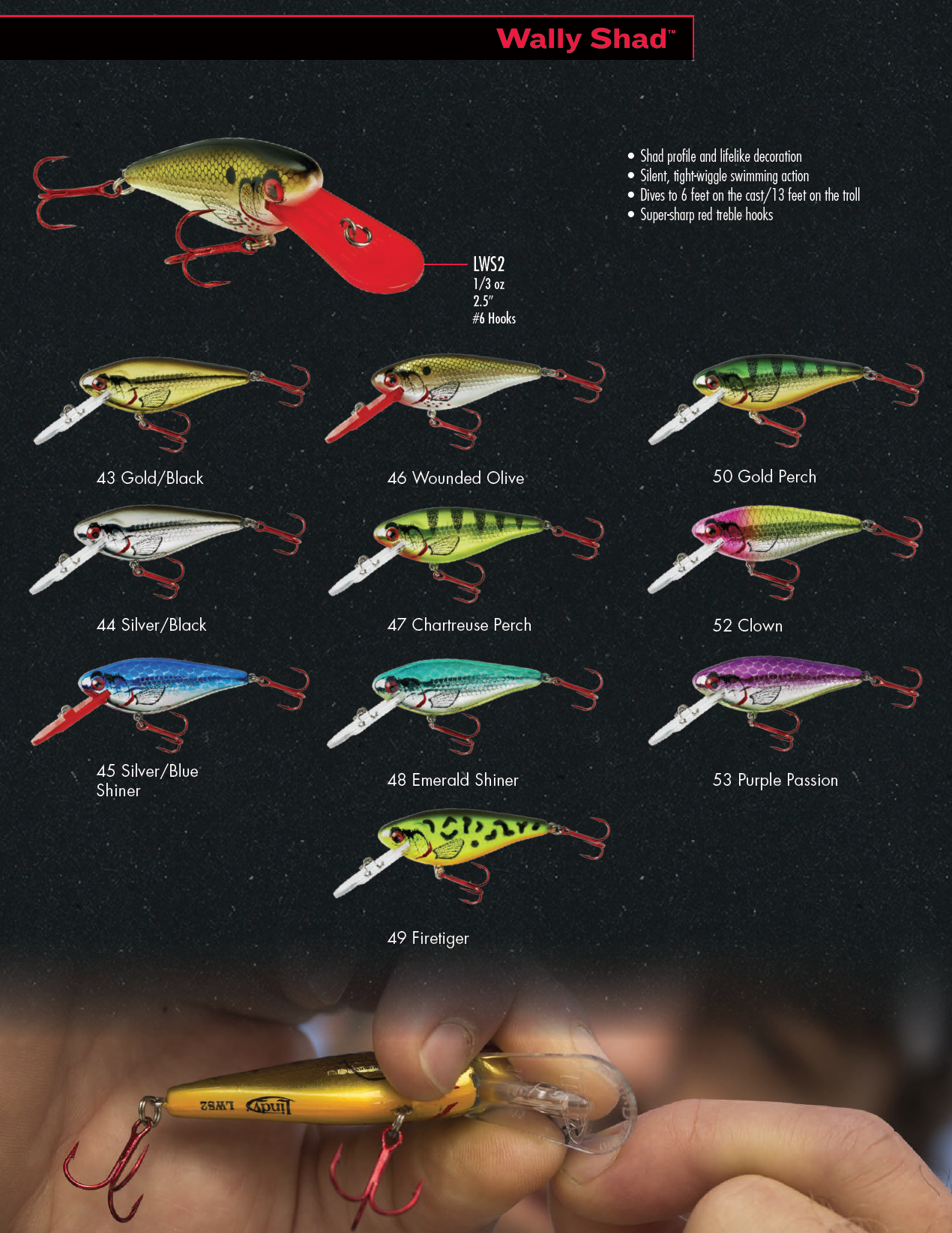 Lindy wally shad 2018 color chart fishing lure color charts and lindy wally shad 2018 color chart 2018 colorfishing lurescolor nvjuhfo Gallery