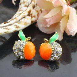 Pour d'orange boucles d'oreilles diamant alliages d'Apple