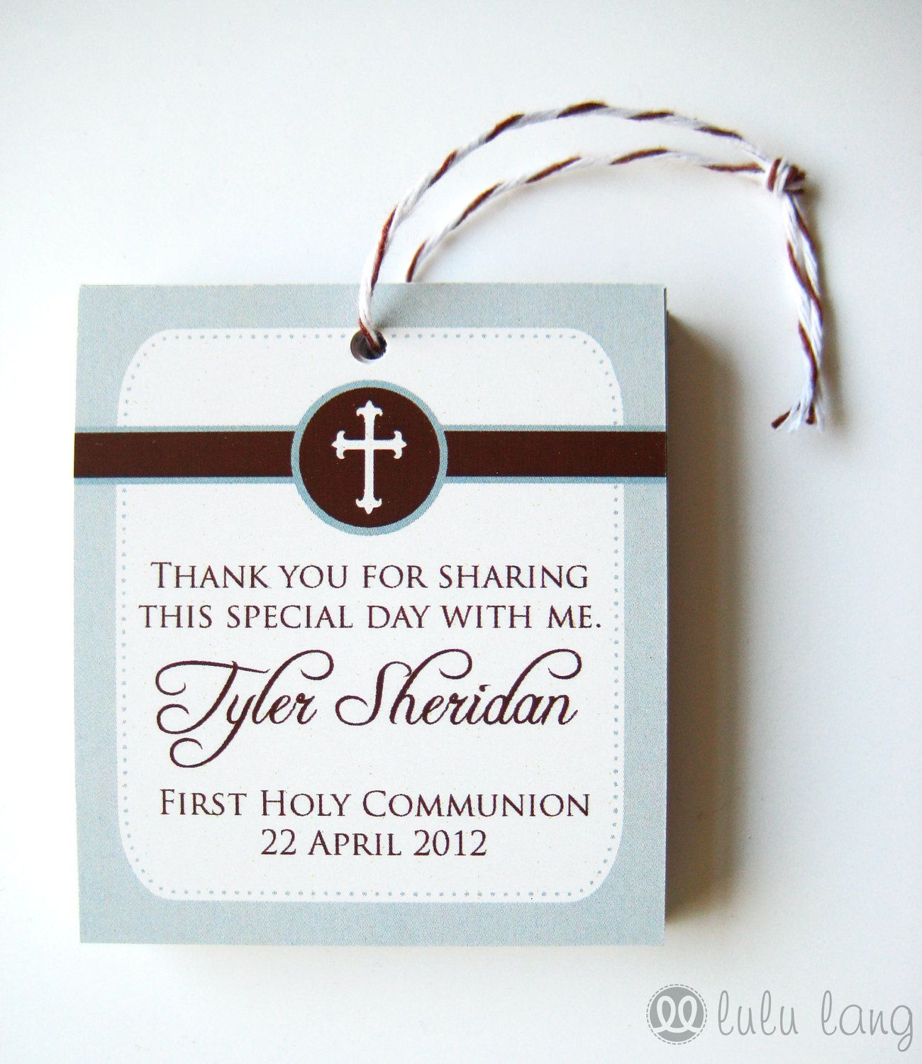 Simple First munion Baptism Christening or Confirmation Favor