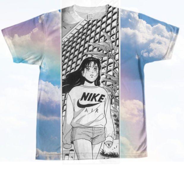 c4bc7f198 Nike Air Anime Girl Shirt   ティーシャツ   Animal print shirts ...