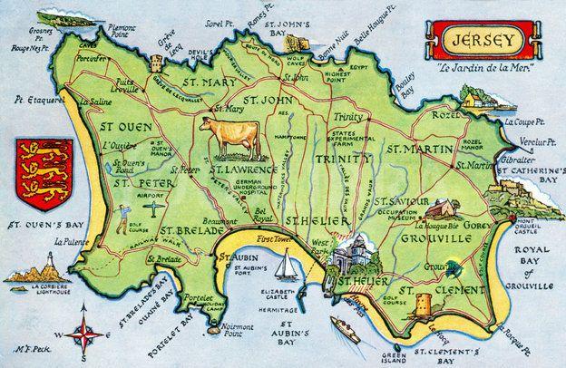 Map Of Uk Including Jersey.Mapa De Jersey Island Jersey Island Es Un Autentico Paraiso Y El