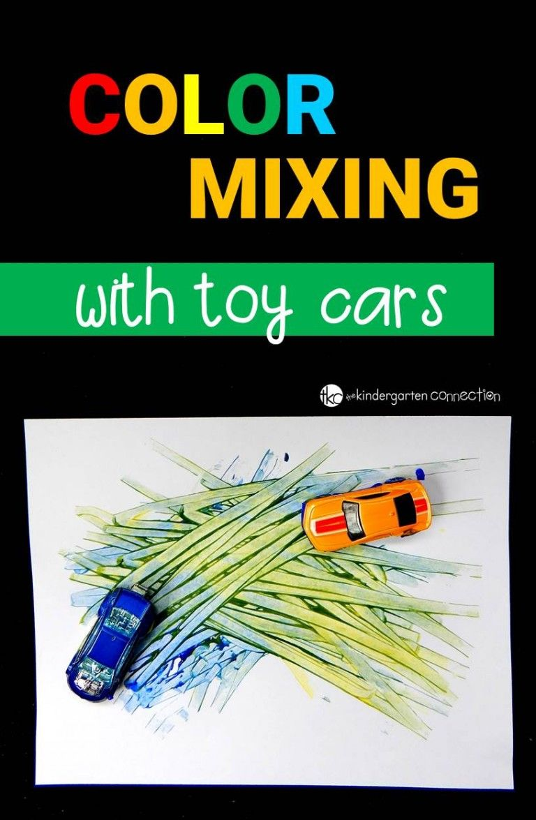 Color Mixing With Toy Cars | Activities, Learning and Pre school