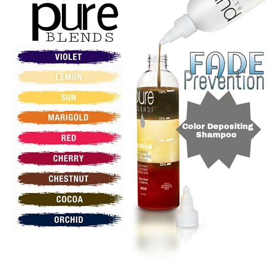BEST sulfate free HAIR COLOR shampoo PURE BLENDS Sold at Steiner