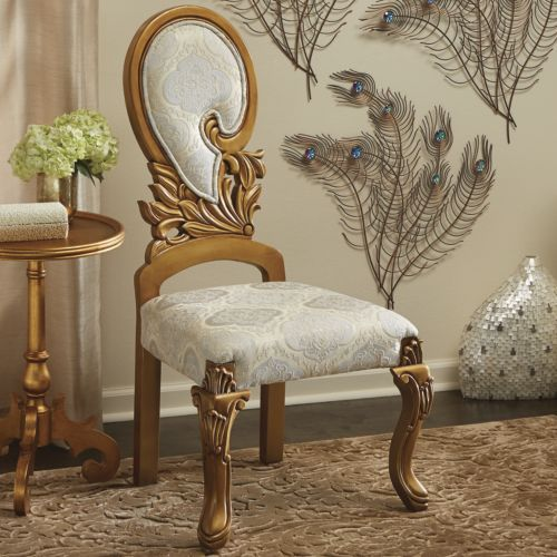 Ivory Gold Swirl Chair From Midnight Velvet. Graceful As A Swan, This  Swirled Back Chair Has A Carved Frame And Legs, As Well As Cream, Gold And  Ivory ...