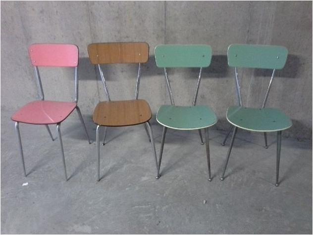 Quattro sedie in formica anni \'60 Euro 80 - arredamento casa ...
