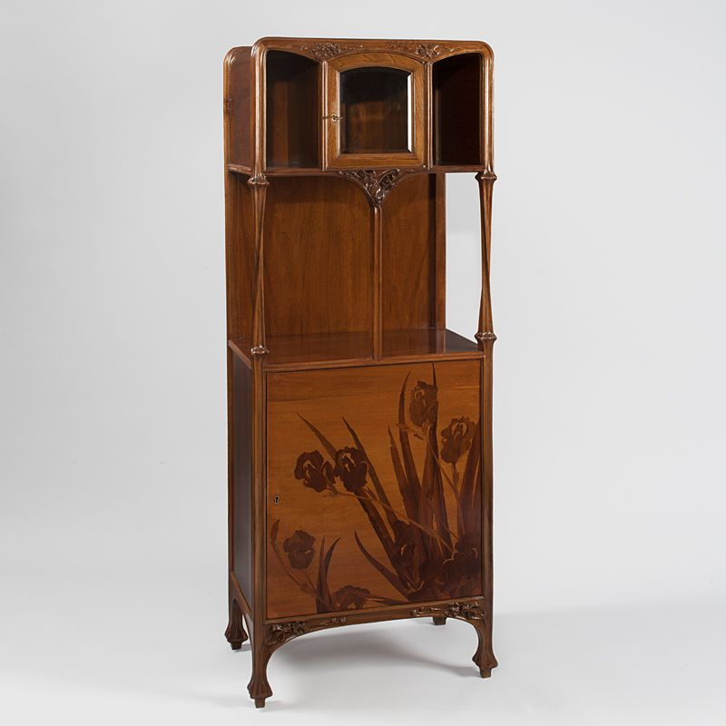 French Art Nouveau Marquetry Cabinet by Louis Majorelle. ca. 1900
