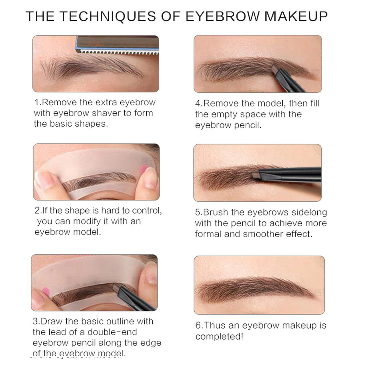 CCbeauty 2in1 Eyebrow Pencil Waterproof with Black Gel ...