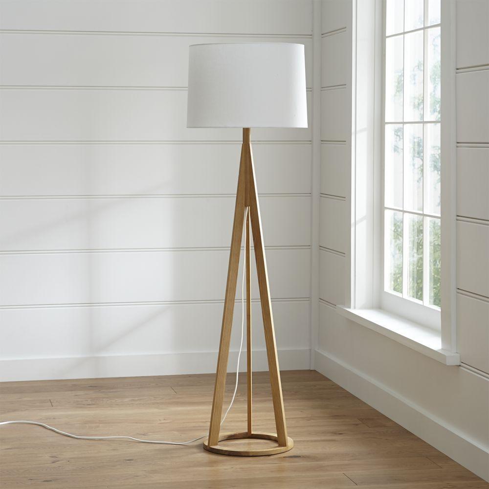Jackson Natural Tripod Floor Lamp Reviews Crate And Barrel Brown Floor Lamps Floor Lamp