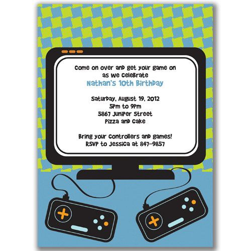 Video game invitations for kids birthday party by milelj on etsy video game invitations for kids birthday party by milelj on etsy 2200 stopboris Images