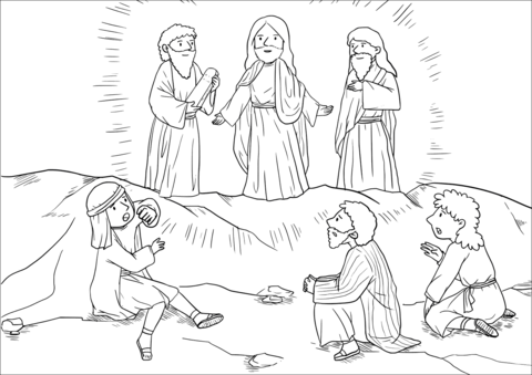 Moses and Elijah Appeared Before Them Talking with Jesus