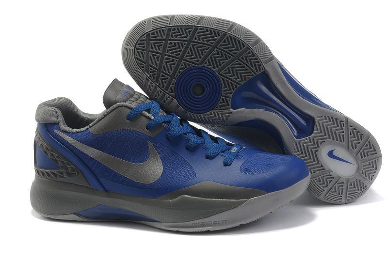 Men Wonderful Nike Zoom Hyper Dunk 2011 Low Black Blue War Boots