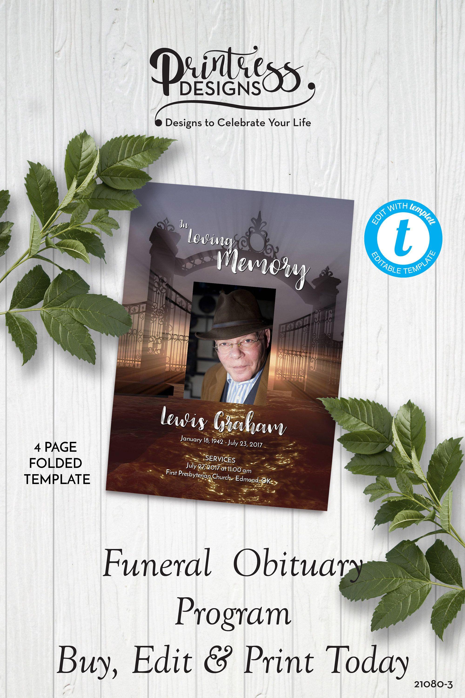Gateway to heaven funeral program obituaryorder of