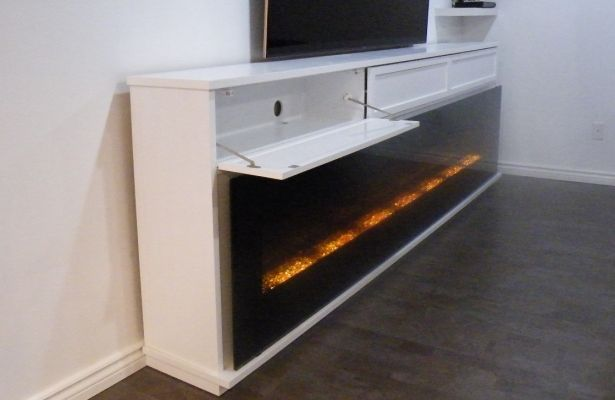 Gentil Aa Walker Media Cabinet With Door Open Cropped Jpg Bat Finish. Living Room Electric  Fireplace ...