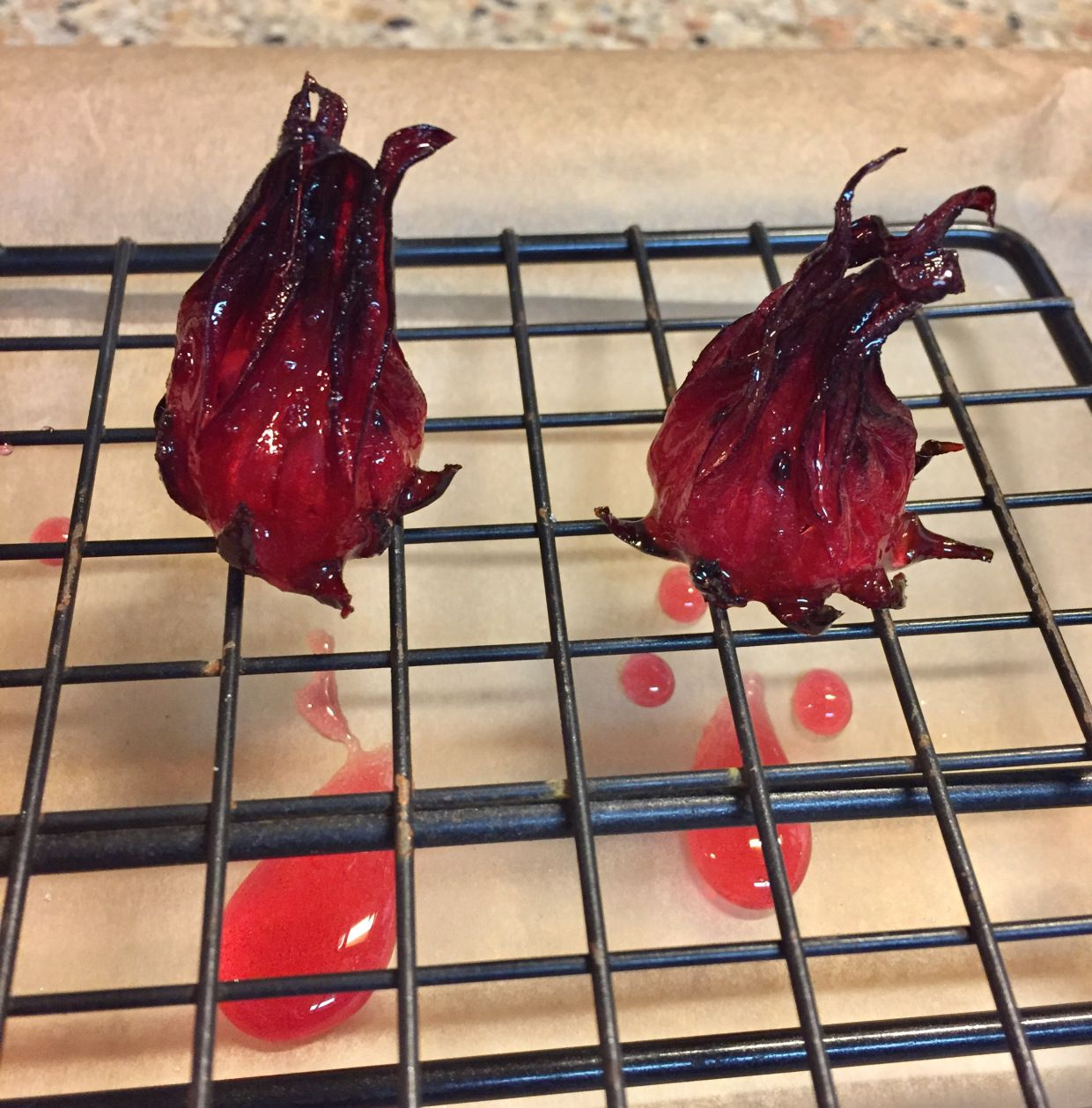 Candied Roselle Hibiscus Hibiscus Recipe Hibiscus Flower Food