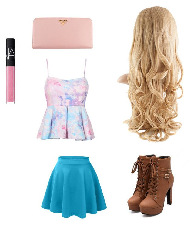 """""""So pink"""" by sarawael on Polyvore featuring Prada and NARS Cosmetics"""