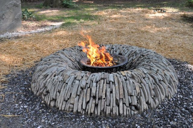 naturstein feuerstelle-design rund-garten ausstattung | jardín, Garten und erstellen