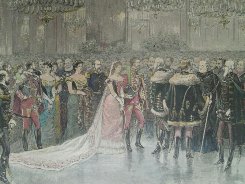 Crown prince Rudolf and his wife Stephanie in Budapest