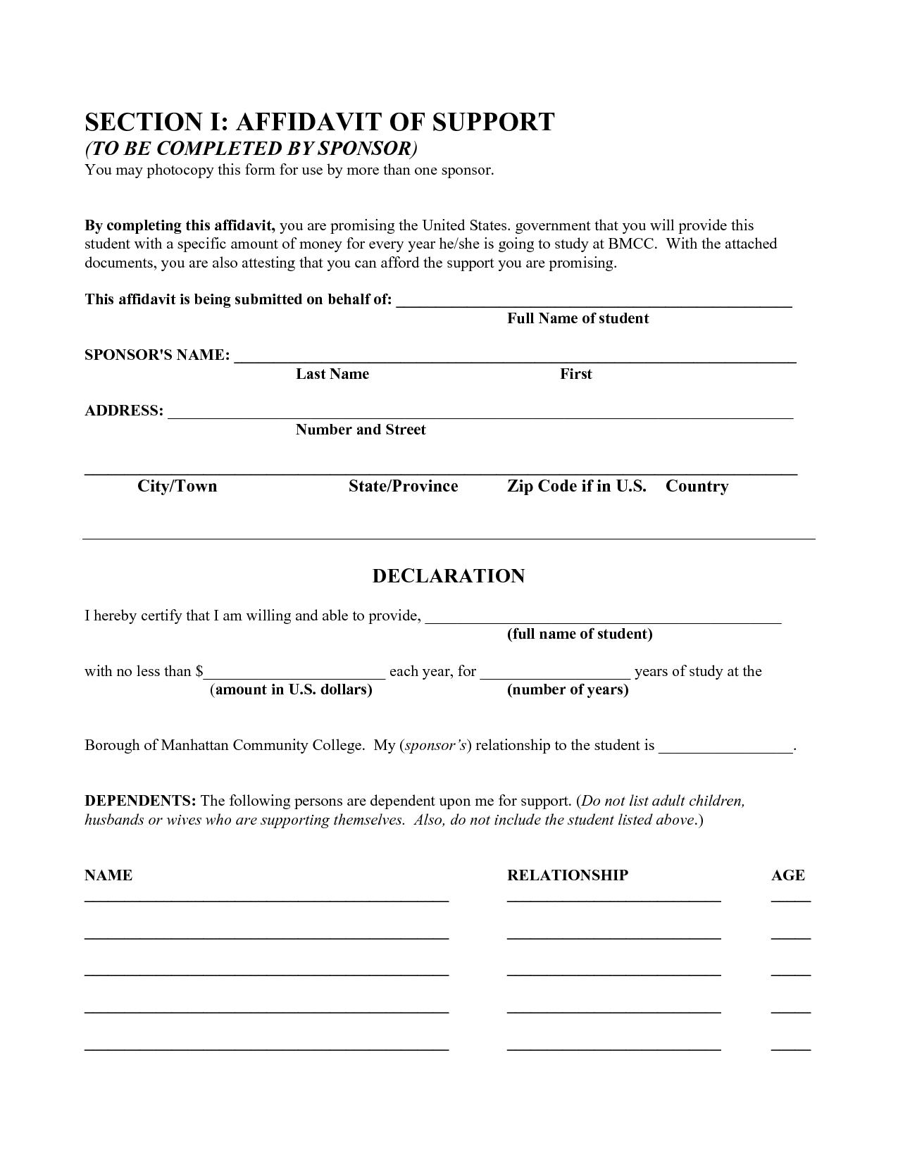Free Affidavit Form by BeunaventuraLongjas affidavit templates – Free Form Templates