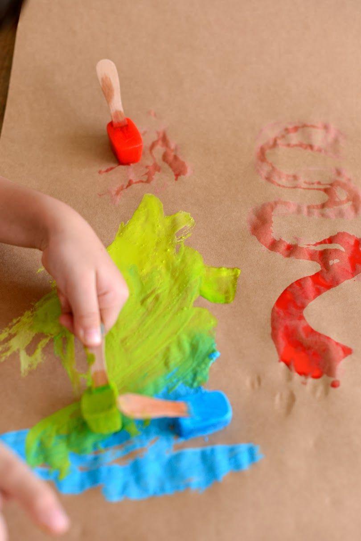 Tintas De Gelo Atividades Artesanais Para Criancas Arte Para