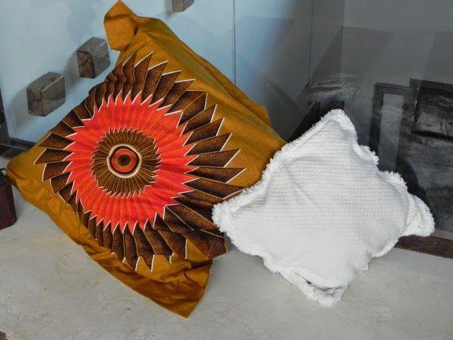 Capa de almofada com tecido africano