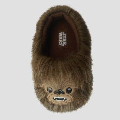 c822beec86 Toddler Boys  Star Wars Chewbacca Slippers - Brown XL(11-12 ...