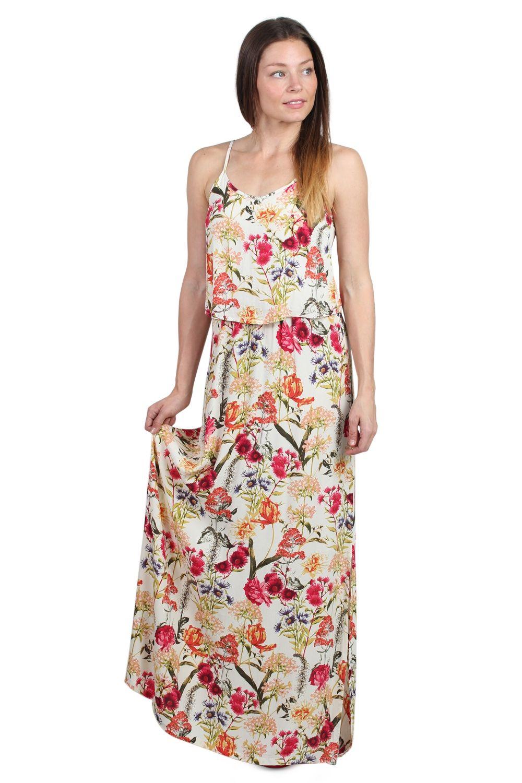 d4ed16d9a72 Soaked In Luxury - Kjole - Isolde Maxi Dress - Multi Flower Print ...