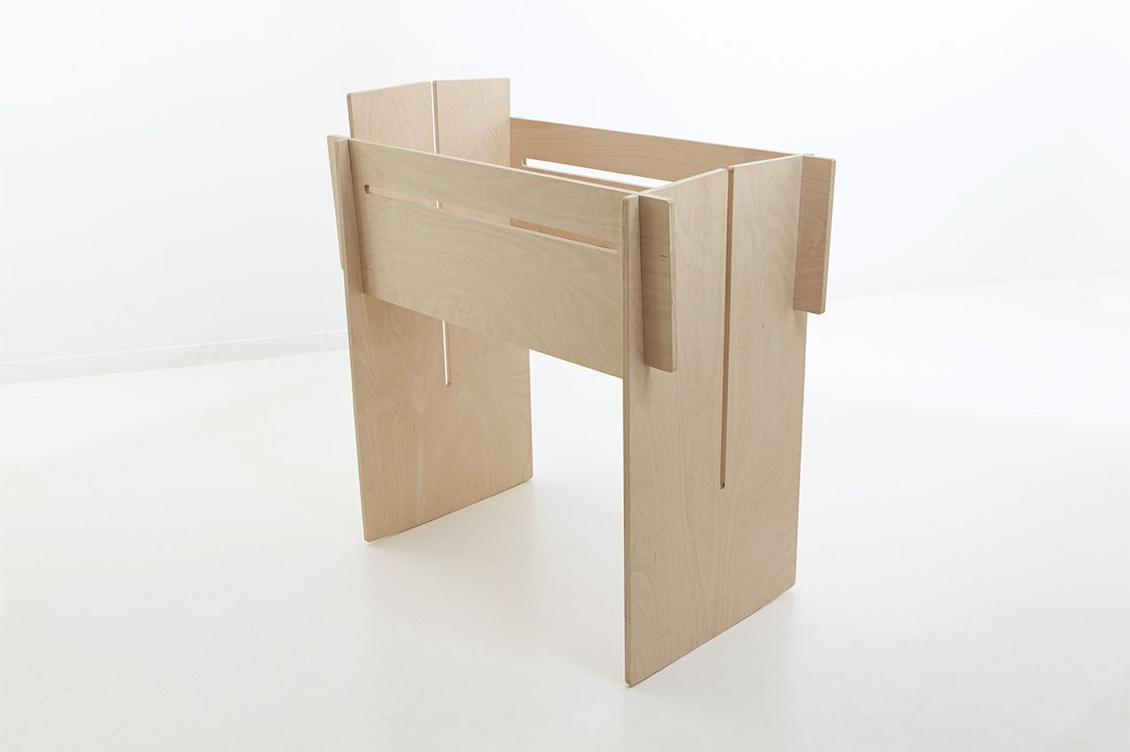 tool free furniture. CRADLE / One Beech Wood Furniture Panel Cut Out. Tool Free Assembly, Flat Pack M