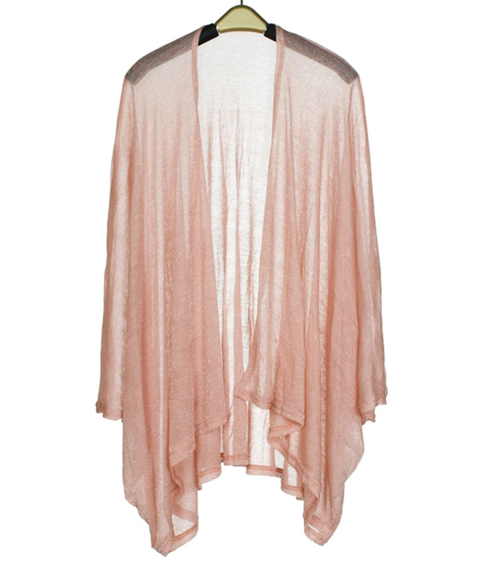 Another great find on #zulily! Pink Shimmer Kimono by SUE & KRIS #zulilyfinds
