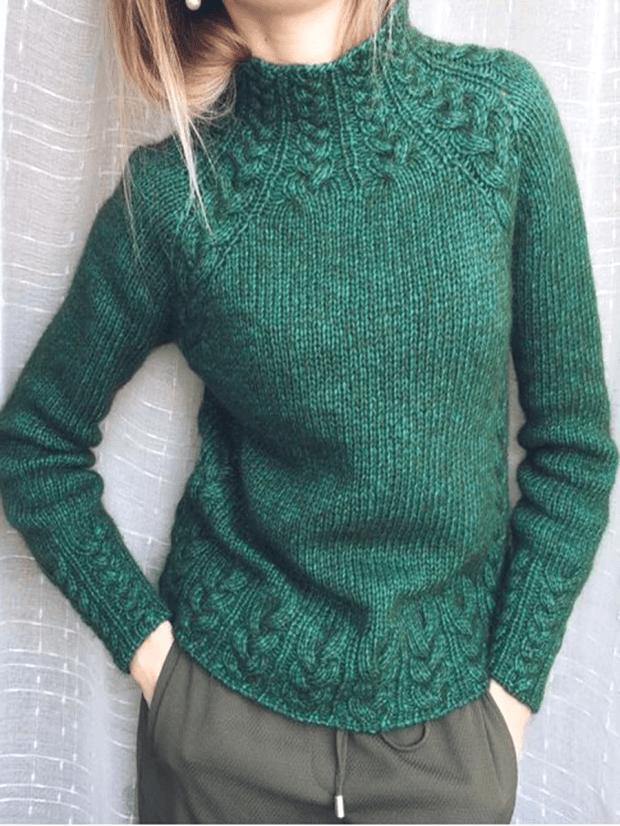 Deep Green Vintage Turtleneck Sweaters