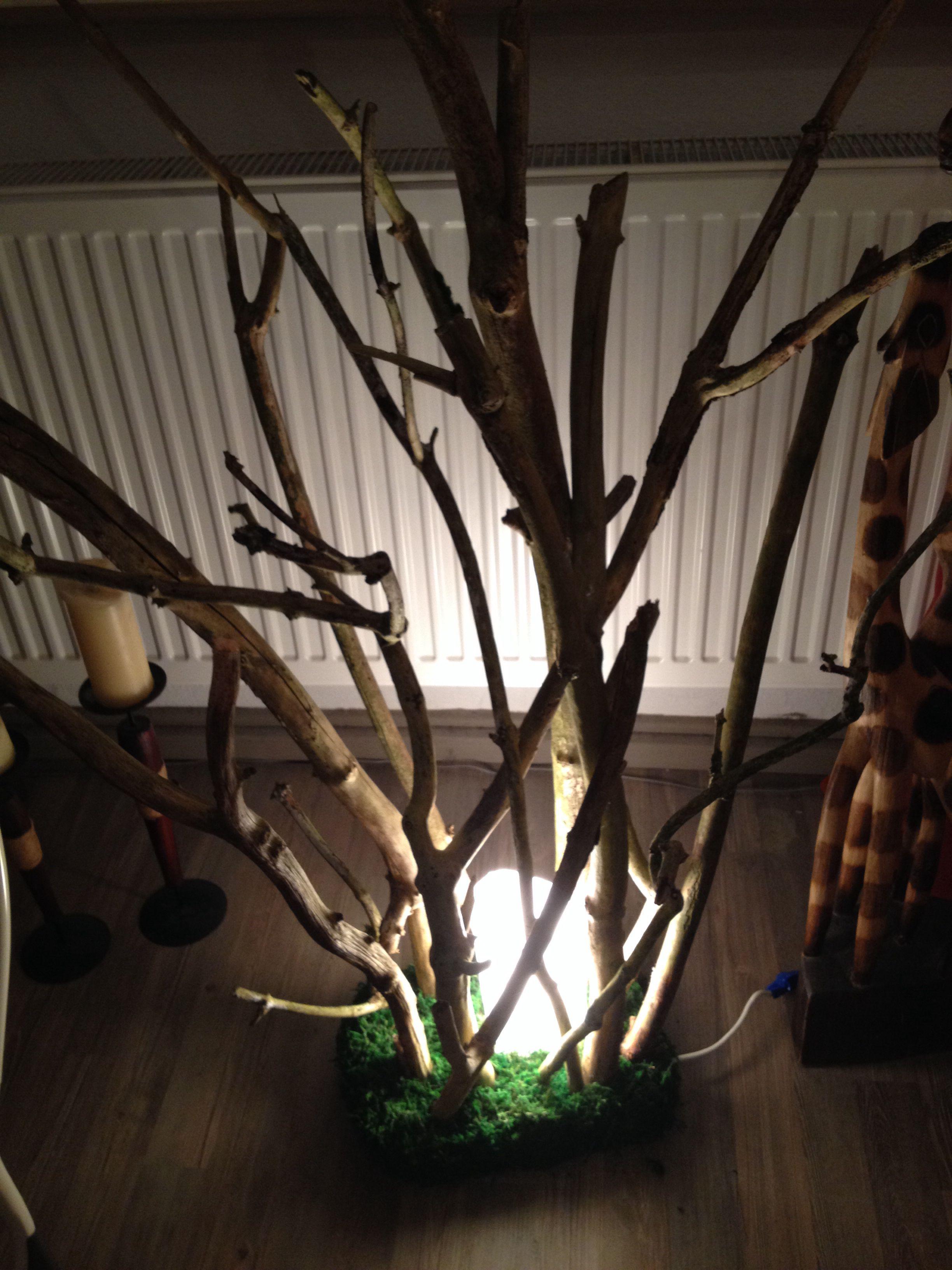 Stehlampe Holz zum selber machen. Nehmt eine Mandarinen ...