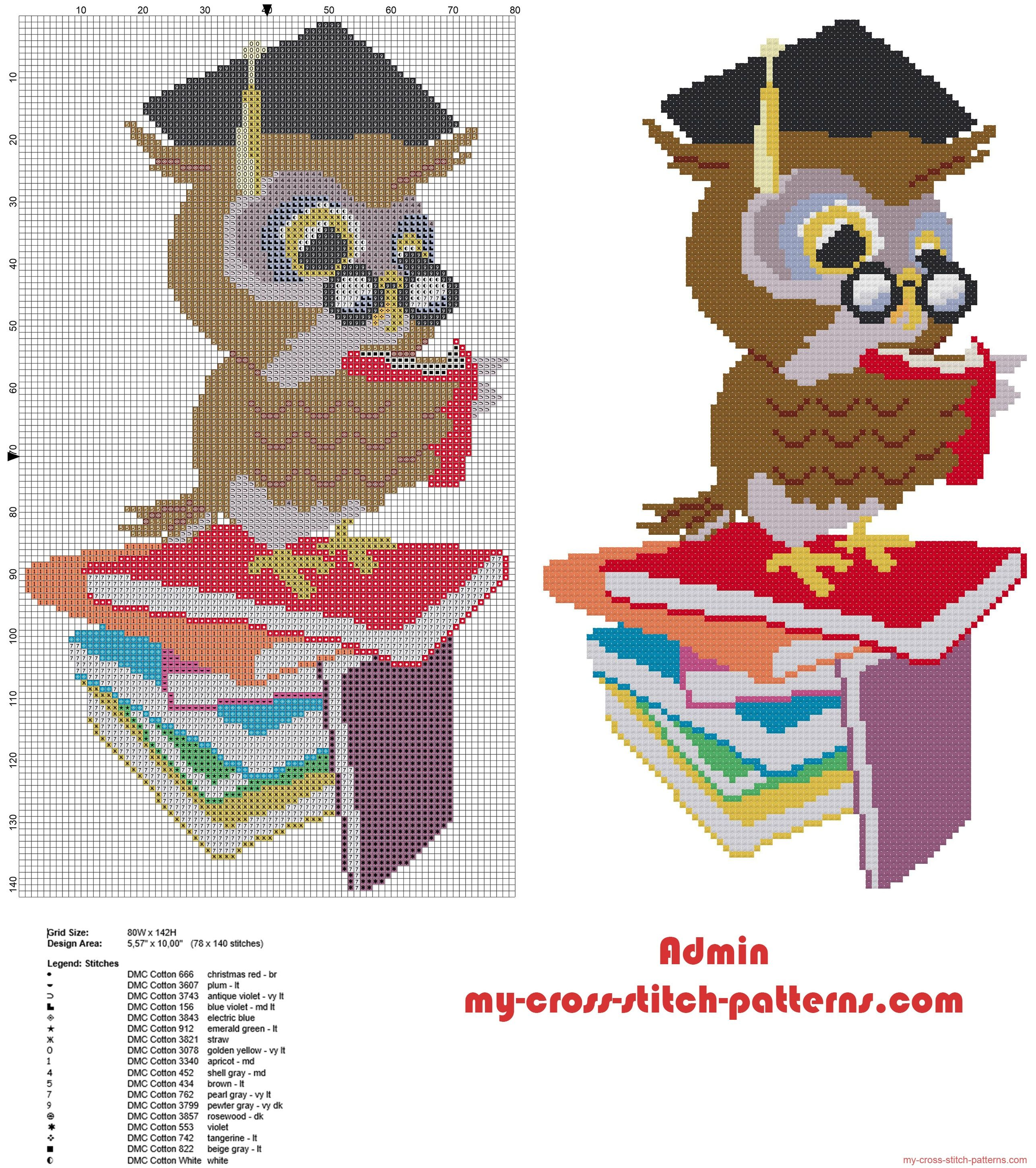 Graduation owl with books cross stitch pattern idea graduation owl with books cross stitch pattern idea bankloansurffo Gallery