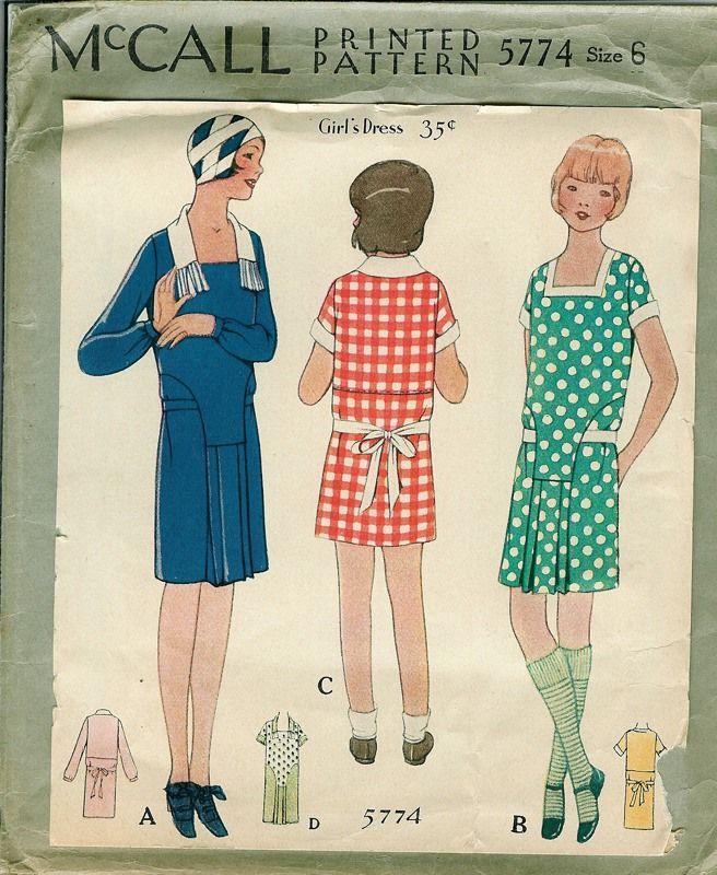1928_McCall_5774_Size_6.jpg (656×800) | vintage pattern | Pinterest ...