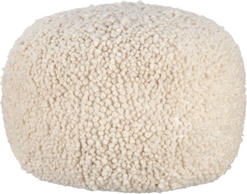 poodle pouf  | CB2