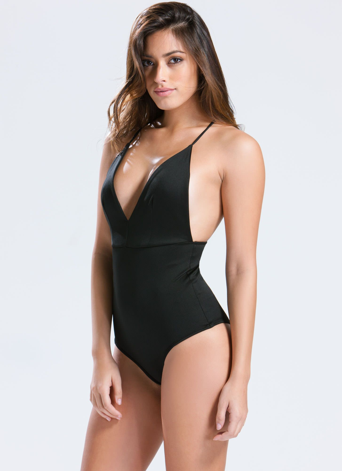 V Mine Bodysuit BLACK