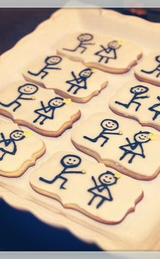 Cute cookies at a Vintage Glam Engagement Party!  See more party ideas at CatchMyParty.com! #engagementparty