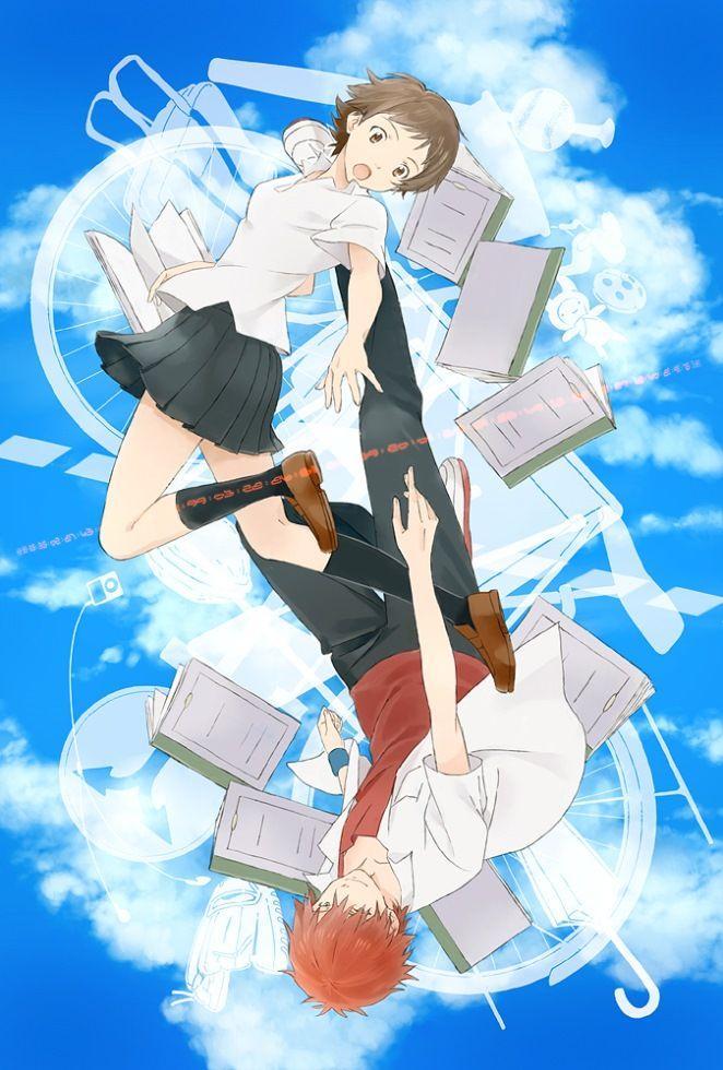 "Animator Hosoda Mamoru, Makoto and Chiaki from ""The Girl"
