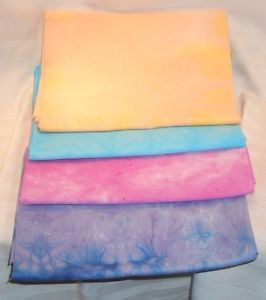 Hand Dyed Fat Quarter Bundle of 4 100 Cotton Fabric 18x22 | eBay