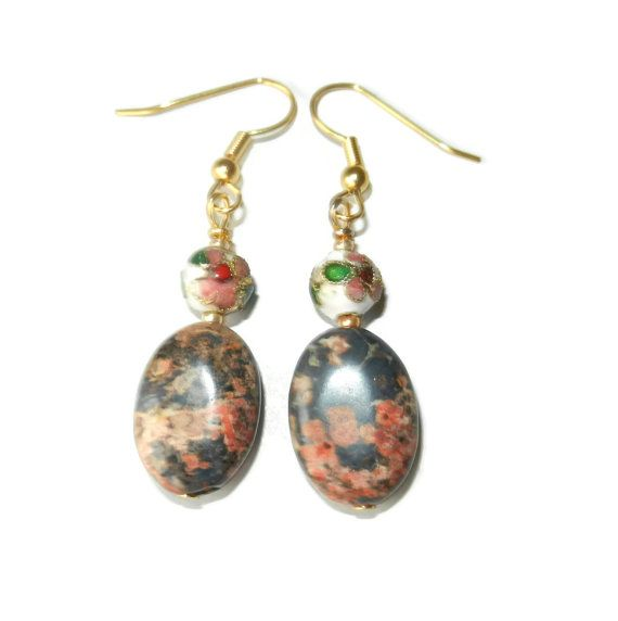 Beaded Stone Jasper and Cloisonne Beaded by CloudNineDesignz, $8.00
