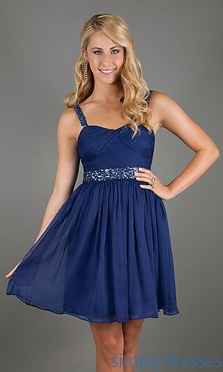 Blue Short Semi Formal Dress Kinda Like This Dress Simply Flowing
