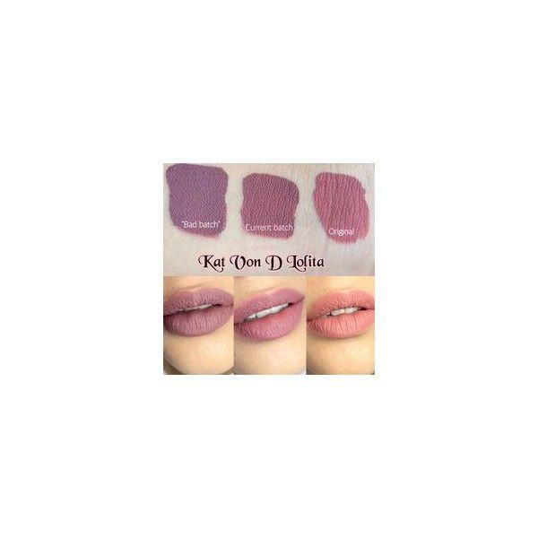 Sneak Peek Kat Von D Everlasting Liquid Lipsticks Photos Swatches ❤ liked on Polyvore featuring beauty products, makeup, lip makeup, lipstick, kat von d lipstick and kat von d